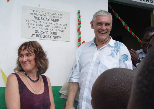 Rod & Gay Neep opening the ECDC infant school at Dago Kokore, Kisumu
